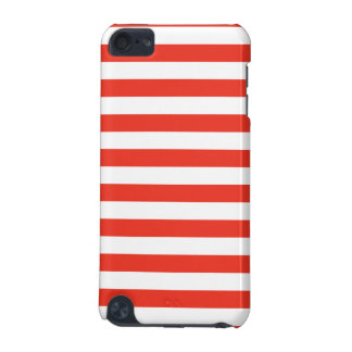 Horizontal Red Stripes iPod Touch 5G Case