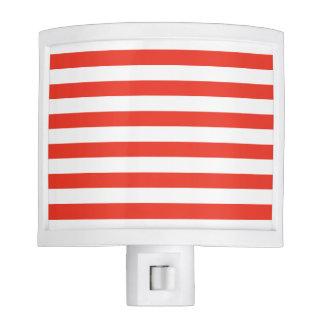Horizontal Red Stripes Night Lites