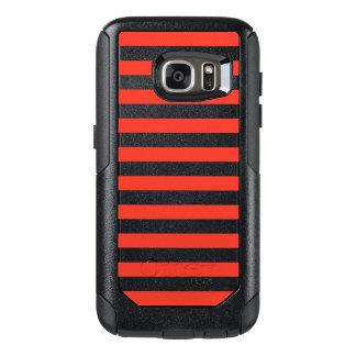 Horizontal Red Stripes OtterBox Samsung Galaxy S7 Case