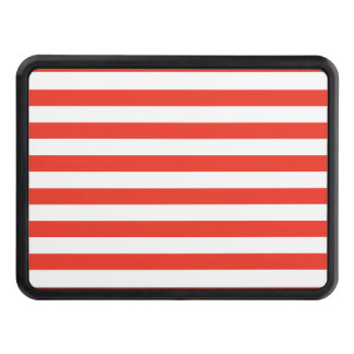 Horizontal Red Stripes Trailer Hitch Cover
