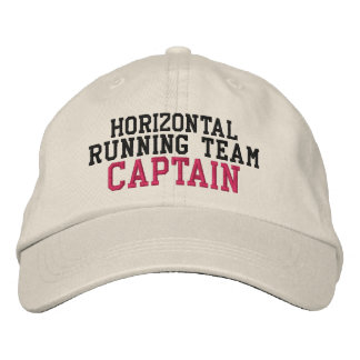 Horizontal Running Team Captain Embroidered Hat
