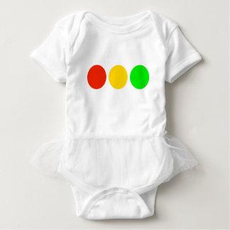 Horizontal Stoplight Colors Baby Bodysuit