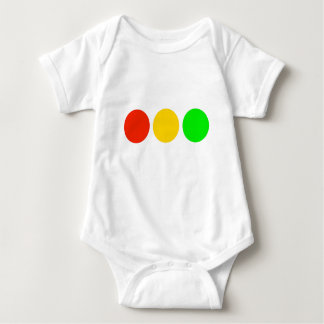 Horizontal Stoplight Colors Baby Bodysuit