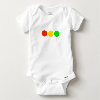 Horizontal Stoplight Colors Baby Onesie