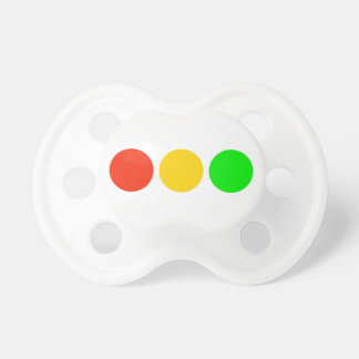 Horizontal Stoplight Colors Baby Pacifiers