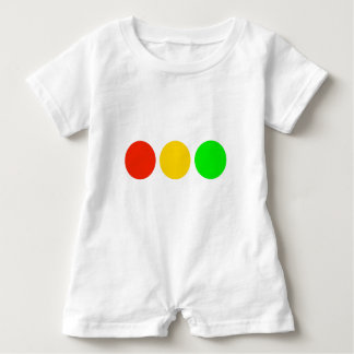 Horizontal Stoplight Colors Baby Romper