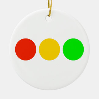 Horizontal Stoplight Colors Ceramic Ornament