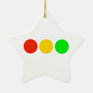 Horizontal Stoplight Colors Ceramic Ornament