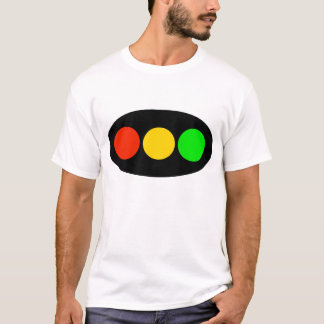 Horizontal Stoplight on Oval T-Shirt