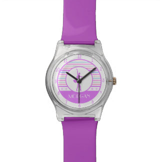 Horizontal Stripes Ballerina Dancer with Monogram Watch