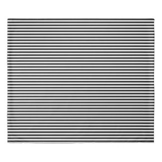 Horizontal Stripes in Black and White Duvet Cover