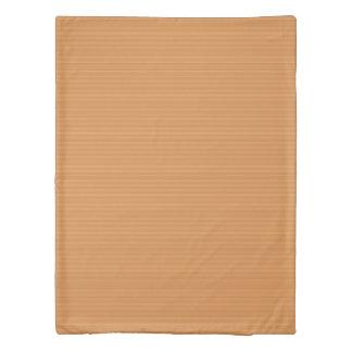 Horizontal Stripes in Shades of Orange Duvet Cover