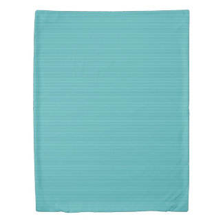 Horizontal Stripes in Shades of Turquoise Duvet Cover