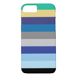 Horizontal Stripes In Winter Colors iPhone 8/7 Case