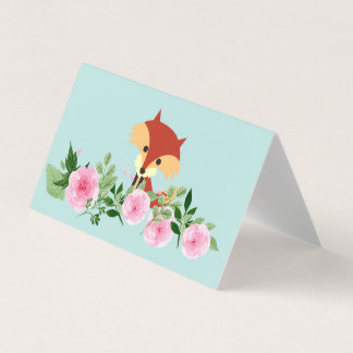 Horizontal Tent Fold Folded Card - fox