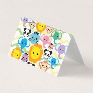 Horizontal Tent Fold Folded Card - lion animal