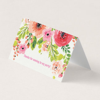 Horizontal Tent Fold Folded Card spring floral