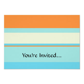 Horizontal Tonal Stripes in Soft Blue and Orange Card