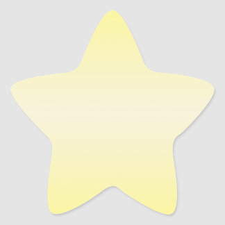 Horizontal Yellow 2 - Vanilla and Cadmium Yellow Star Sticker