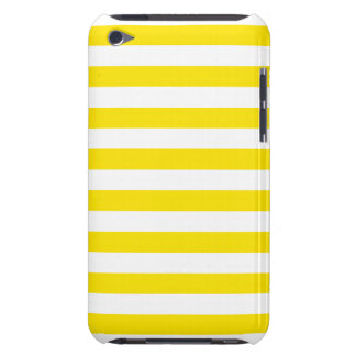 Horizontal Yellow Stripes Barely There iPod Cases