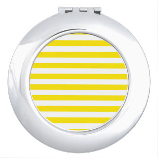 Horizontal Yellow Stripes Compact Mirror