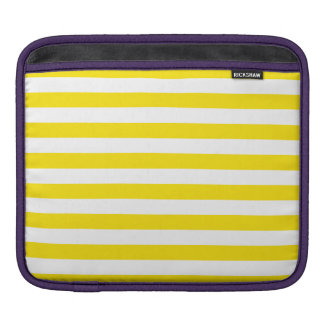 Horizontal Yellow Stripes iPad Sleeve