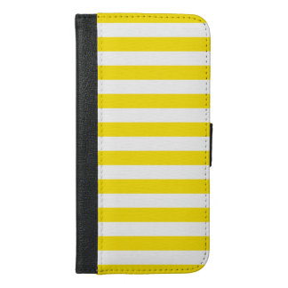 Horizontal Yellow Stripes iPhone 6/6s Plus Wallet Case