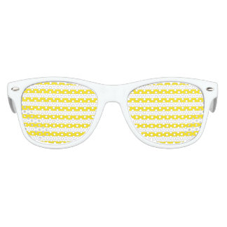 Horizontal Yellow Stripes Kids Sunglasses
