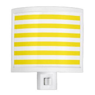 Horizontal Yellow Stripes Nite Light