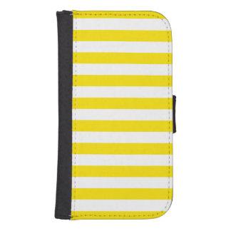Horizontal Yellow Stripes Samsung S4 Wallet Case