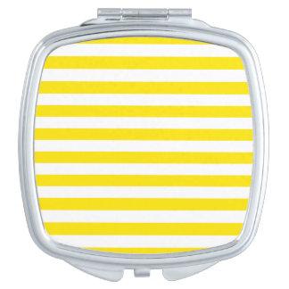 Horizontal Yellow Stripes Travel Mirror