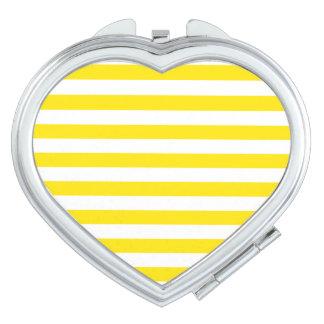 Horizontal Yellow Stripes Vanity Mirror