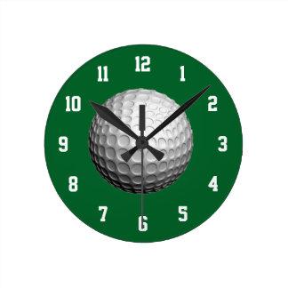 Horloge blanche et verte de golf