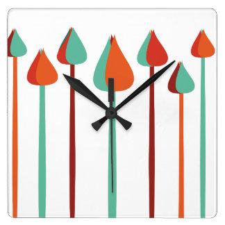 Horloge Carrée Brosses