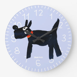 Horloge d'art : Chien de Scotty de tinctorial de