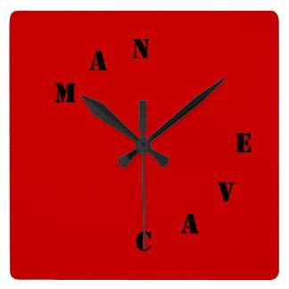 """Horloge de conception de """"cool"""" de CAVERNE d'HOMME"""