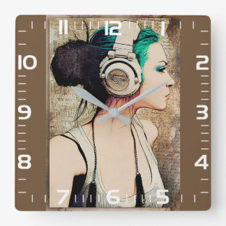 "Horloge de mur féminine «Woman music """