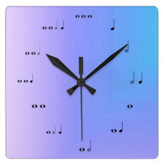 Horloge de notes musicales
