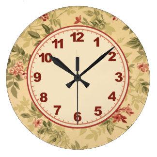 Horloge florale naturelle avec des nombres