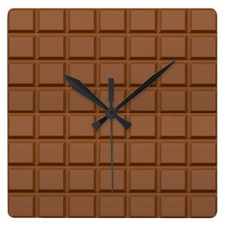 """Horloge murale """"de barre de chocolat"""""""