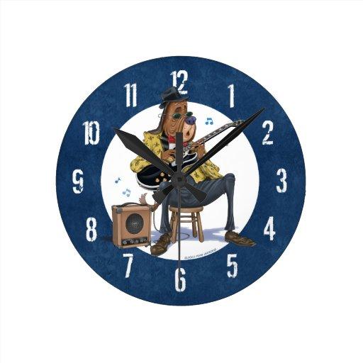 Horloge murale de chien de bleus