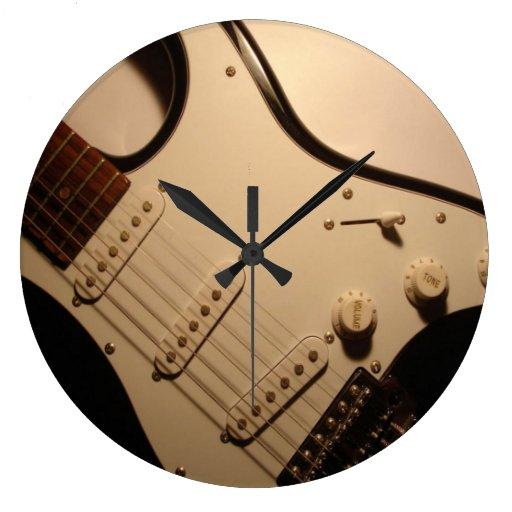 Horloge murale de guitare lectrique zazzle for Decoration murale guitare