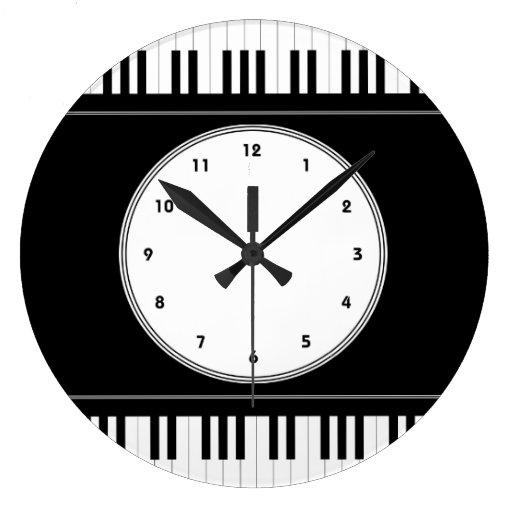 Horloge murale de musique de clavier de piano