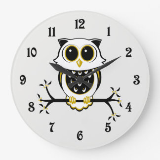 Horloge murale mignonne de hibou