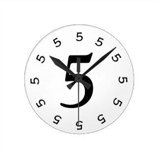 horloge murale simple 2 à 5 heures