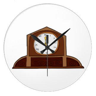Horloge ronde d'horloge de fantaisie