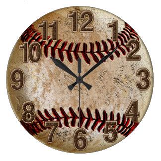 Horloge vintage de base-ball de sembler en pierre