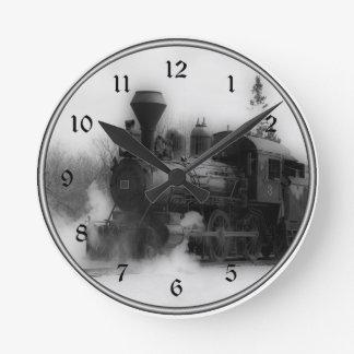 Horloge vintage de locomotive de train