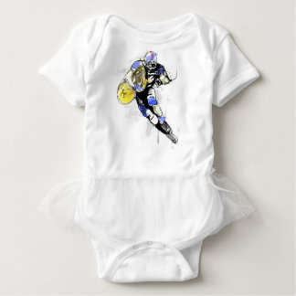 horn football baby bodysuit