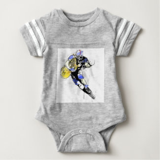 horn football baby bodysuit